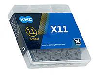 Цепь KMC X11 Grey (118 звеньев), фото 1