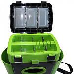 Ящик для зимней рыбалки FishBox - 10L - 2 секции - Зеленый, фото 3
