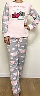 XL(48) Пижама теплая женская флис, Одежда для дома