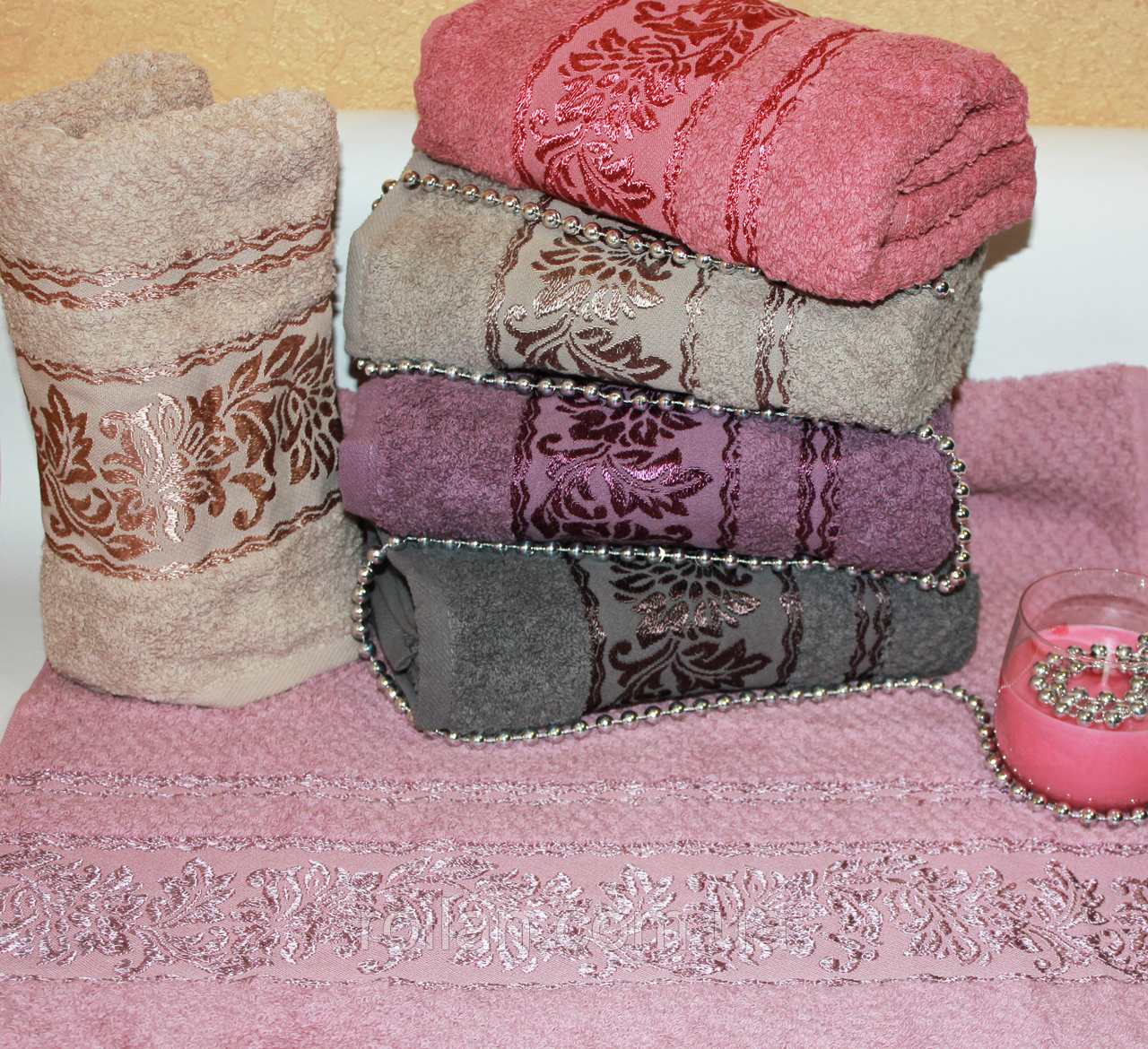Метровые турецкие полотенца Sumbul
