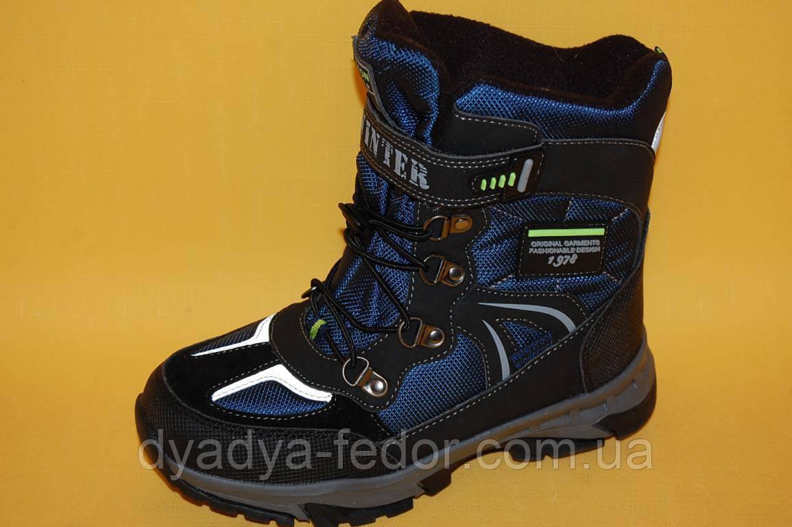 Детская зимняя обувь Термообувь Том.М Китай 5718 Для мальчиков Синий размеры 35_38