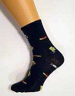 Хлопковые носки с рисунком Симпсон темно-синего цвета