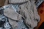Комплект вязаных изделий. Шапка, снуд, варежки, гетры., фото 2