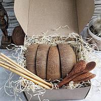 Подарочный набор экопосуды из кокоса, Coconut Home