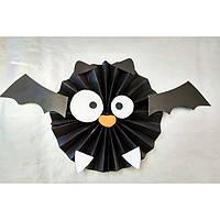 Декор бумажный  подвесной Летучая мышь  на Хэллоуин .