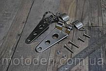 Кронштейн кріплення фари мотоцикла сріблястий універсальний.