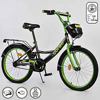 """Велосипед 20"""" дюймов 2-х колёсный  """"CORSO"""" ручной тормоз, звоночек, мягкое сидение"""