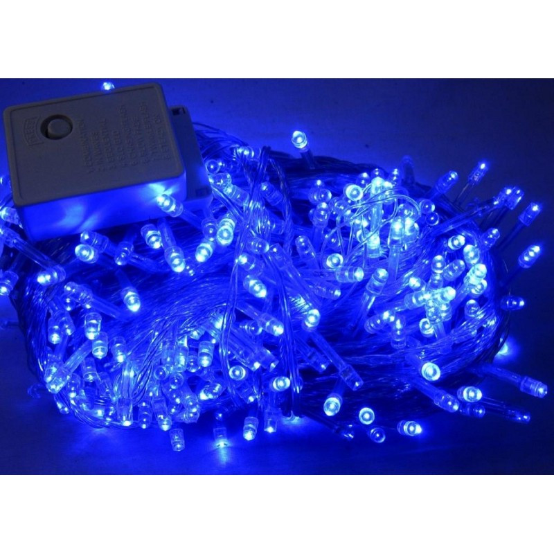 Светодиодная гирлянда Шторка 144 LED - 1,5x1,2м синий 5mm