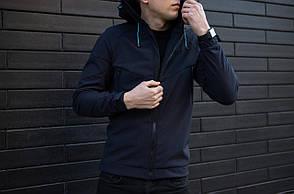 "Мужская демисезонная куртка Pobedov Jacket ""Soft Shell"" Navy (S, M, L, XL размеры), фото 2"