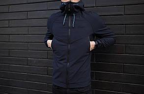 "Мужская демисезонная куртка Pobedov Jacket ""Soft Shell"" Navy (S, M, L, XL, XXL размеры), фото 3"