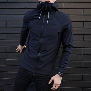 "Мужская демисезонная куртка Pobedov Jacket ""Soft Shell"" Navy (S, M, L, XL, XXL размеры), фото 2"