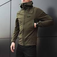 "Мужская демисезонная куртка Pobedov Jacket ""Soft Shell"" Khaki (S, M, L, XL, XXL размеры)"