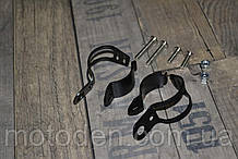 Кронштейни кріплення передніх поворотников мотоцикла на вилку чорні універсальні