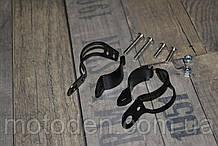 Кронштейны крепления передних поворотников мотоцикла на вилку черные универсальные