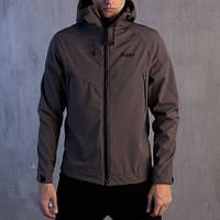 "Мужская демисезонная куртка Pobedov Jacket ""Soft Shell"" Grey (S, M, L, XL размеры)"