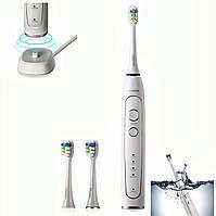 Электрическая зубная щетка Sonic RST2056 Ультразвуковая вибрирующая с 3-тремя головками щеток оригинал