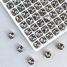 Ріволі 6 мм в оправі (срібло). Світлий графіт (Classic LUX). 1 шт.
