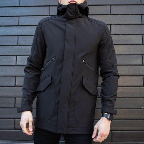 "Мужская демисезонная куртка Pobedov Soft Shell Jacket ""Japan"" Black (S, M, L, XL размеры)"