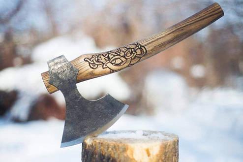 Топор скандинавский кованный (MIDDLE), 42-45см, фото 2