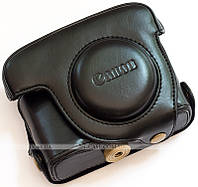 Кожаный чехол для фотоаппарата Canon PowerShot G16 Black