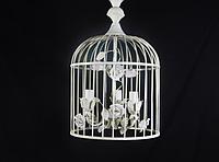 Люстра-клетка в стиле шебби-шик 3 лампочки, d35х40