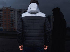 "Мужская демисезонная куртка Pobedov Jacket ""Rise"" Black/Grey (S, M, L, XL размеры), фото 3"