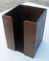 Салфетница квадратная, цвет КОРИЧНЕВЫЙ, 20 см