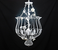 Люстра-клетка в стиле арт-декор 4 лампочки Е14, d45х70