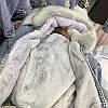 Куртка джинсовая женская зимняя с большим меховым капюшоном, фото 8