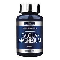 Кальций и магний Scitec Nutrition Calcium - Magnesium 100 таблеток