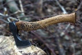 Топор скандинавский ручной работы (MINI), 40-45см, фото 2