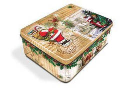 Новогодний подарок в жестяной упаковке №5 Б- 400г.