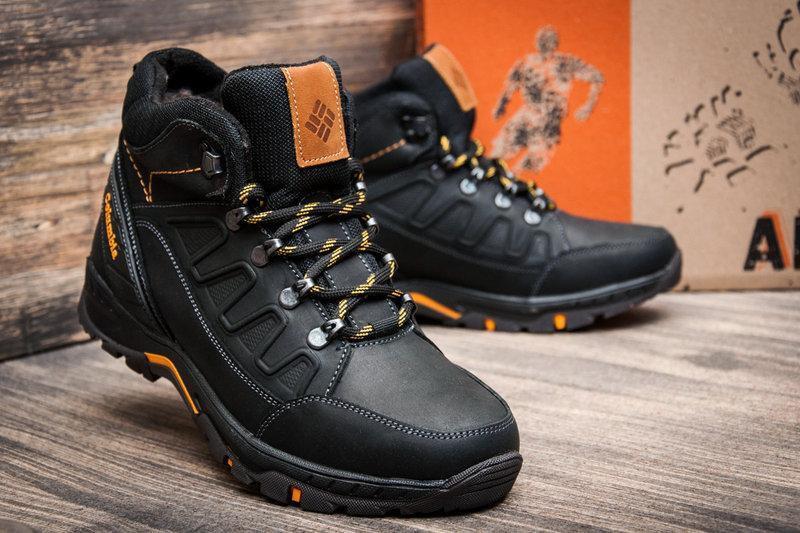 Чоловічі зимові шкіряні черевики NS Black р. 40 41 42 43 44 45