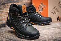 Чоловічі зимові шкіряні черевики NS Black р. 40 41 42 43 44 45, фото 1
