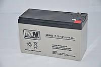 Аккумуляторная батарея аккумулятор MWS 12В 7,2Ач (7Ач)