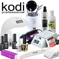 Стартовый набор для покрытия гель лаком Kodi фрезер Lina 20000   лампа SUN 5, 48 w