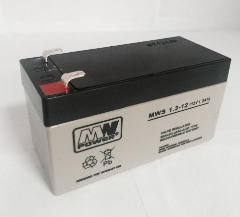 Аккумуляторная батарея аккумулятор MWS 12В 1,3Ач(1,2Ач)