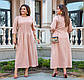 """Женское платье в больших размерах 3252 """"Миди Строчки"""" в расцветках, фото 5"""