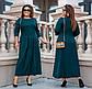 """Женское платье в больших размерах 3252 """"Миди Строчки"""" в расцветках, фото 4"""