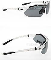 Поляризованные очки RockBros со сменными линзами, белые