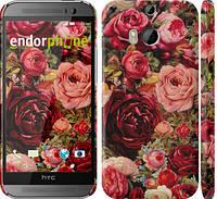 "Чехол на HTC One M8 dual sim Цветущие розы ""2701c-55"""