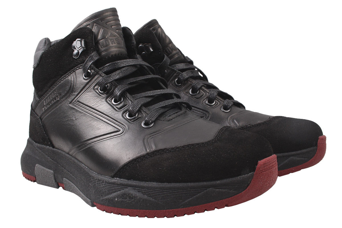 Ботинки мужские зимние Konors натуральный замш+кожа, цвет черный, размер 40-45