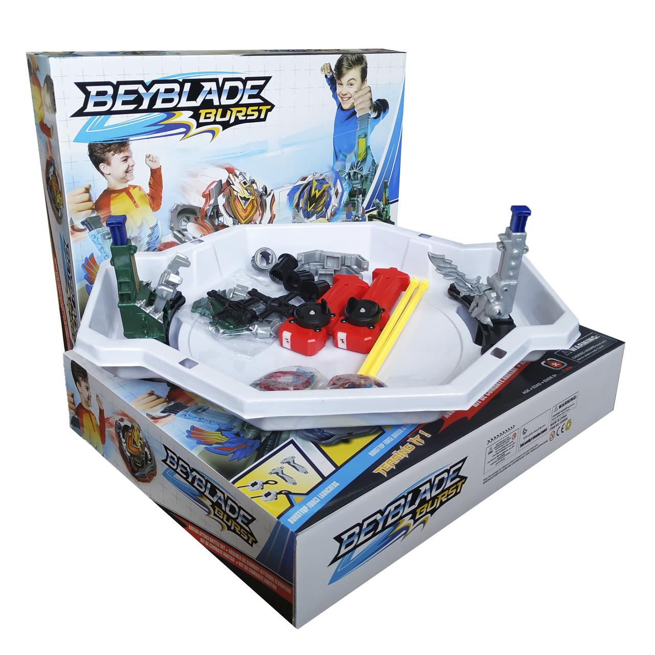 Арена Бейблейд / Beyblade Burst, с механическими ловушками (Волчки Бейблэйд в комплекте - 2шт.) sct