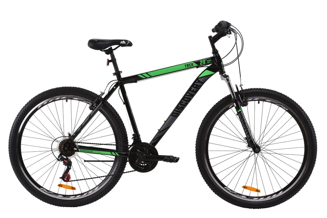 """29"""" Discovery TREK AM V-BR 2020 (рама 19"""", черно-зеленый с серым)"""