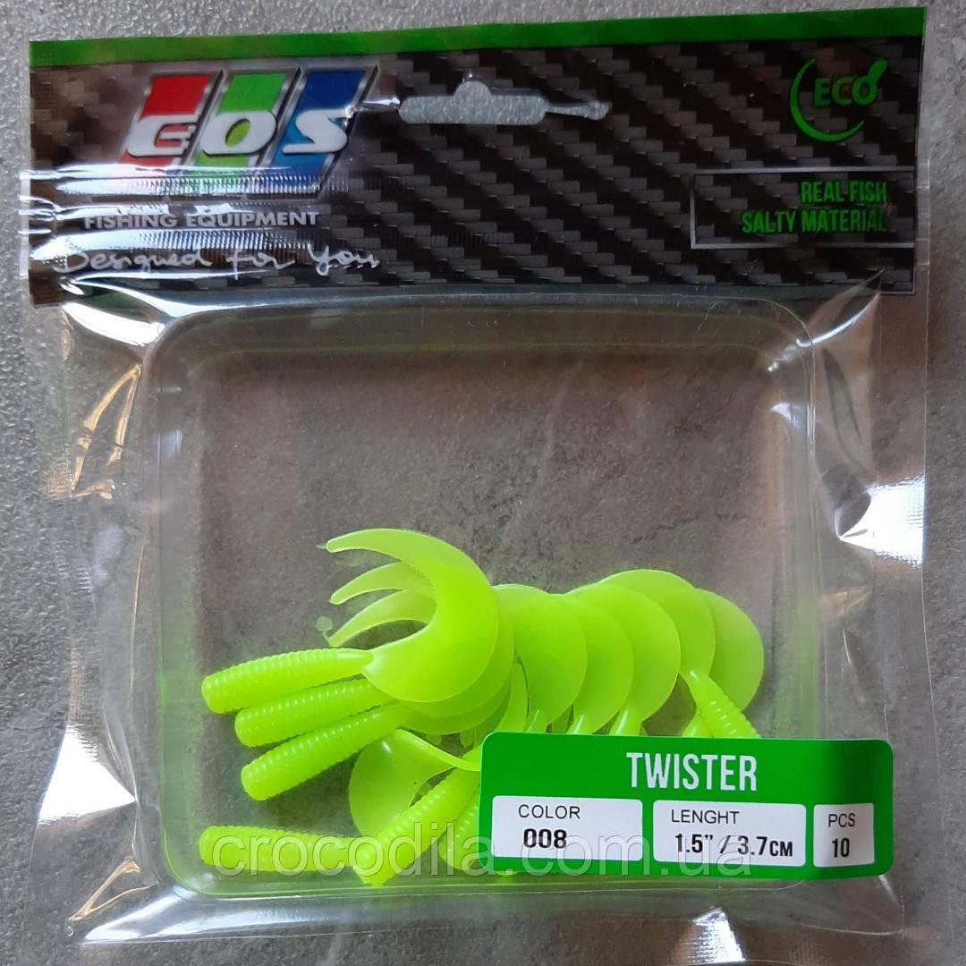 Силіконова принада EOS Twister 1.5 дюйма