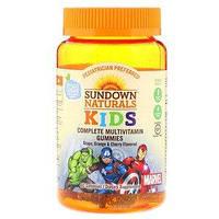 Мультивитамины с витамином C, Мстители, клубника, арбуз и малина, 60 таблеток Sundown Naturals Kids