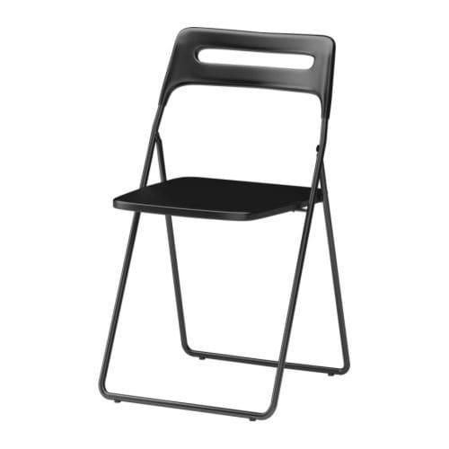 ИКЕА (IKEA) НИССЕ, 301.150.66, Садовый стул, черный - ТОП ПРОДАЖ