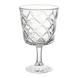 ИКЕА (IKEA) ФЛИМРА, 002.865.02, Чаша, прозрачное стекло, с рисунком, 23 сл