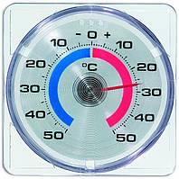 Термометр оконный Tfa, на липучке, пластик, 75х75 мм (146001)