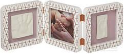 Набор для изготовления отпечатка Baby Art Тройная рамка Медно-белая 3601092800